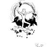 Дриго Е.Ю. «Белый клоун», иллюстрация к книге стихов Стефана «В Белом Свете»