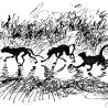 Дриго Е.Ю. «Черные кошки», из серии «Городские животные»