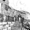 Дриго Е.Ю. «Фонтанка», иллюстрация к роману в стихах «Борх» неизвестного автора, подготовка рукописи: К.А. Холодилин