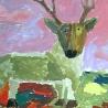 Вова Блаженков. «Противостояние волка с оленем» (9 лет)
