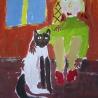 Даша Лытова. «Я играю с кошкой» (7 лет)