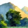 Джон Кудрявцев. «Пейзаж с освещённой сопкой»