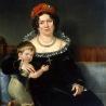 Митуар Бенуа.  «Портрет дамы с мальчиком»