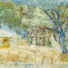 Арзамазова В.И. «Весенний пейзаж с синим деревом»
